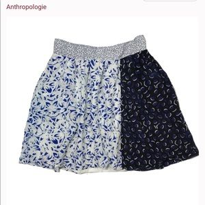 Anthropologie silk skirt Maeve
